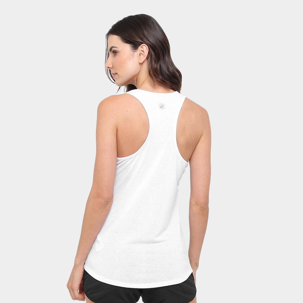 Knit Asics Tank Graphic Branco Regata Camiseta Camiseta Feminina Regata Training FwtXaa