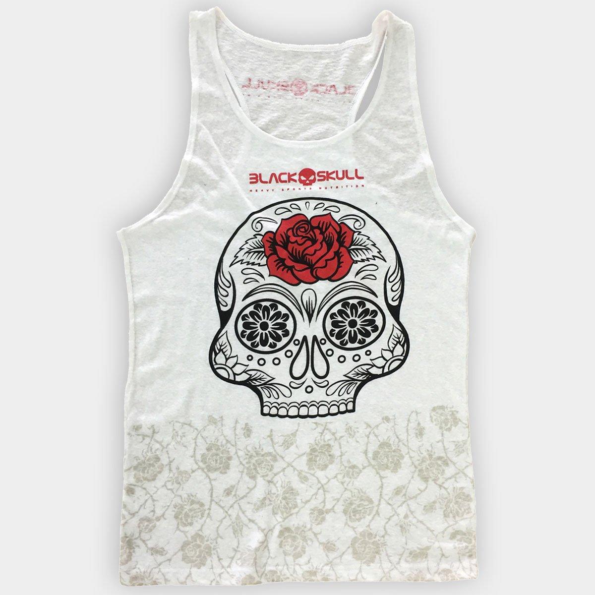 41e3fc13dd Camiseta Regata Black Skull Estonada - Compre Agora