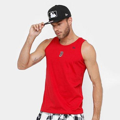Camiseta Regata Boston Red Sox New Era Mini Camu Masculina - Masculino