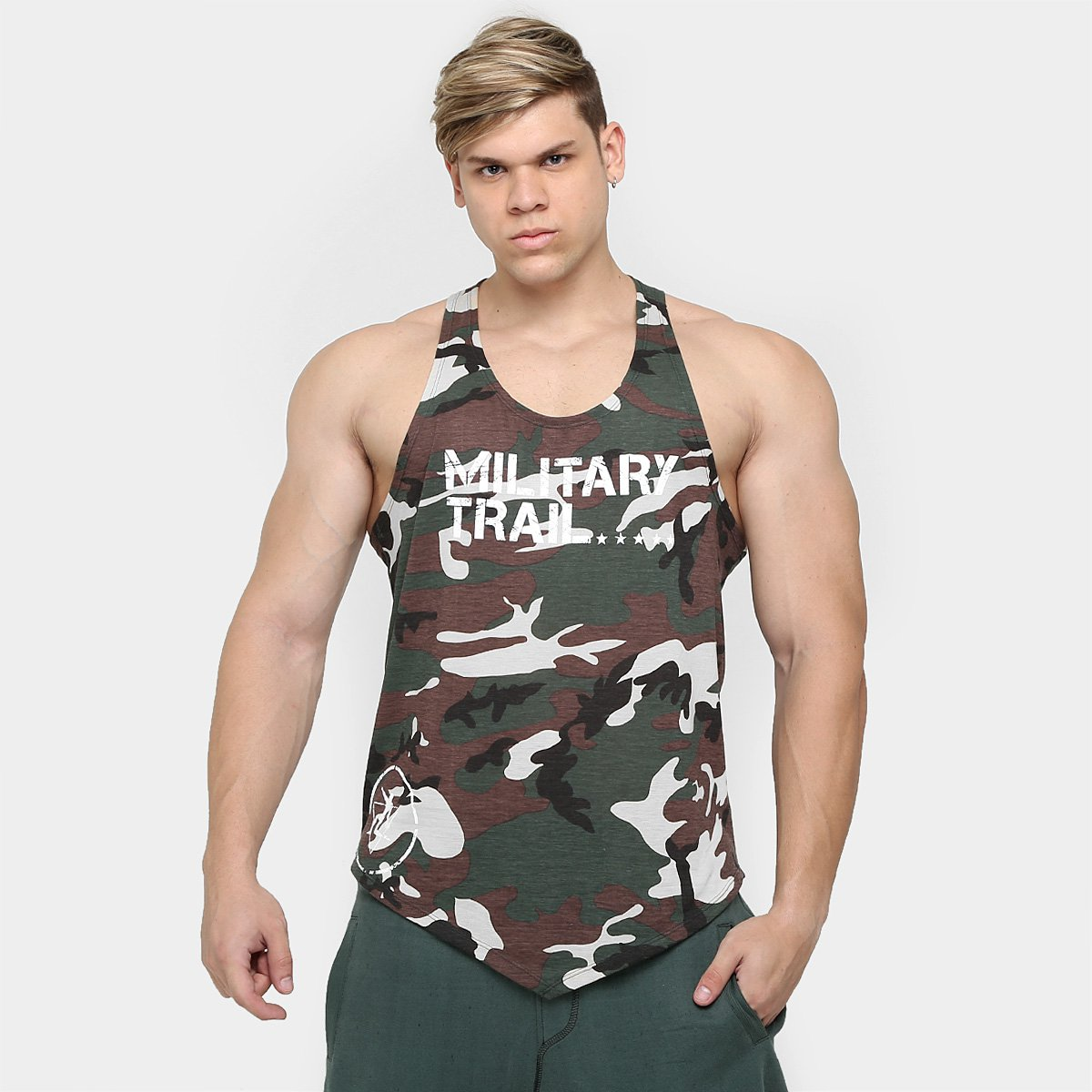955e9e8ade9e3 Camiseta Regata Combat Masculina Military Trail - Midway USA - Compre Agora