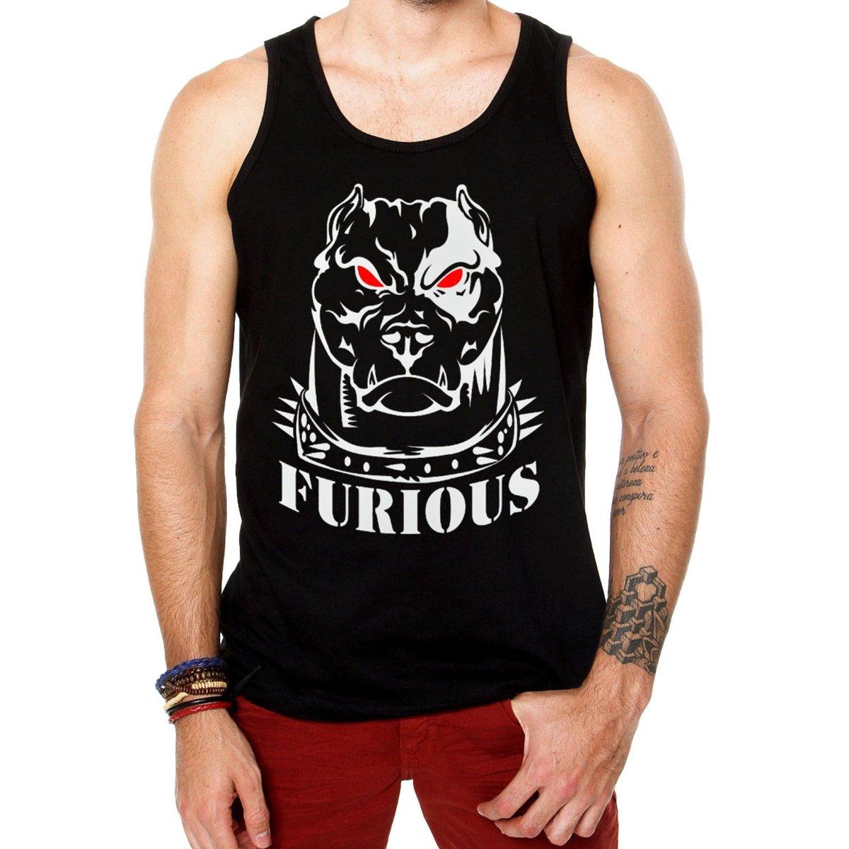 240eee77a2071 Camiseta Regata Criativa Urbana Fitness Musculação Academia Furious - Preto  - Compre Agora