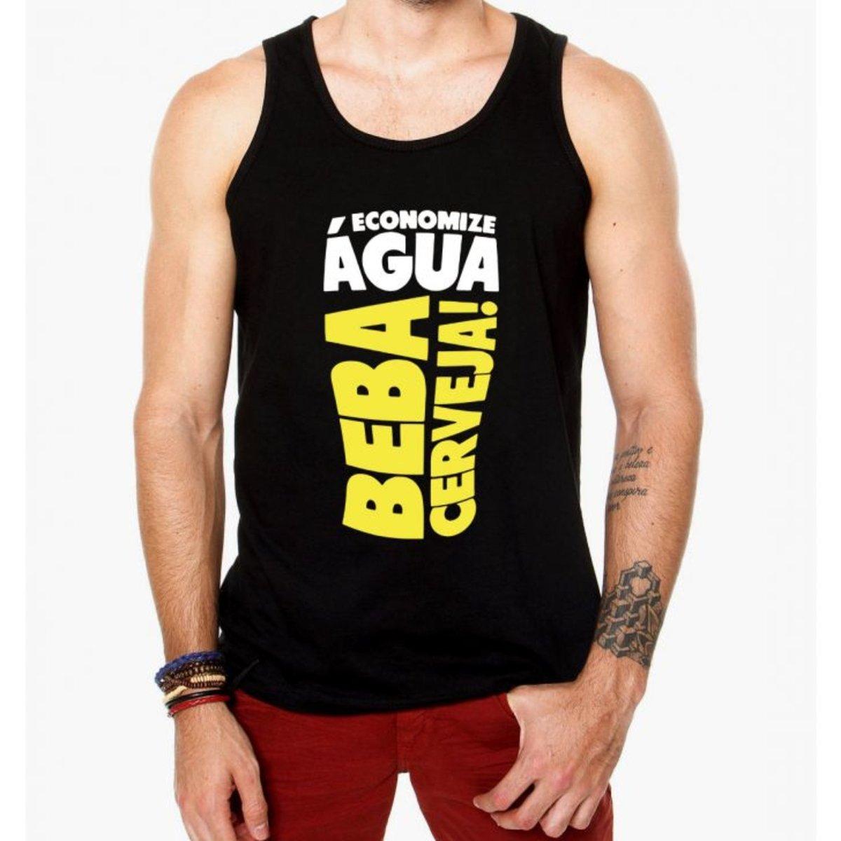 Camiseta Regata Criativa Urbana Frases Engraçadas Cerveja Preto