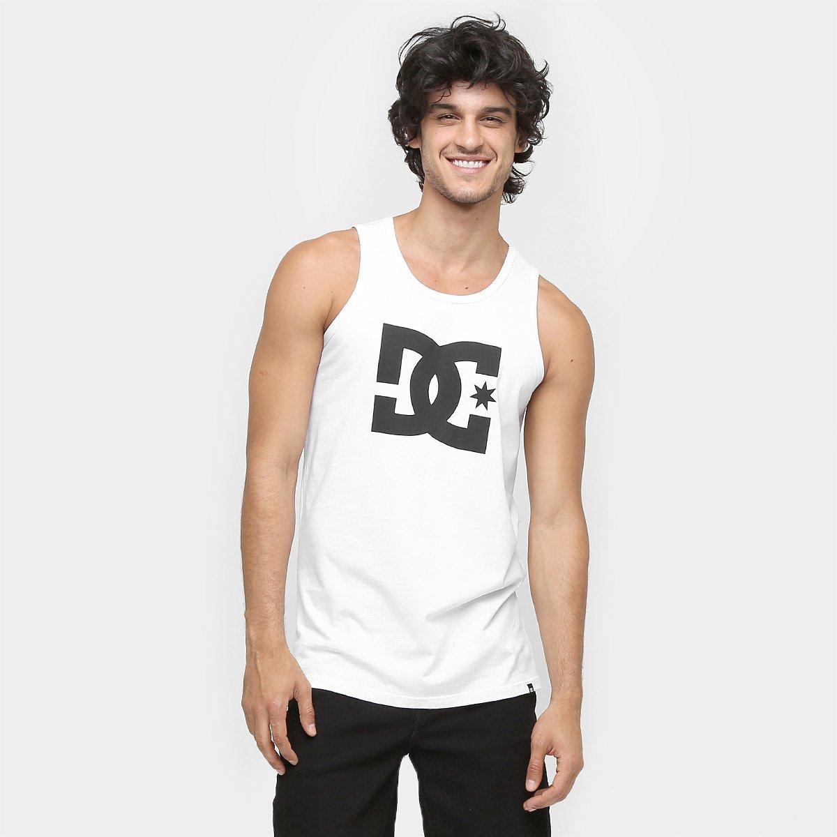 Camiseta Regata DC Shoes Star - Branco - Compre Agora  a9efc054933