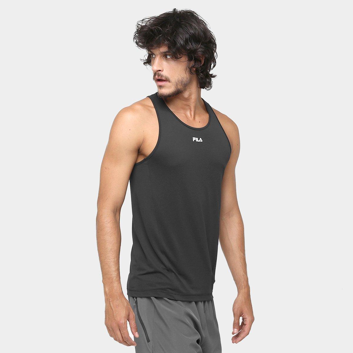 Camiseta Regata Fila Bio - Preto - Compre Agora  3afcacd1281