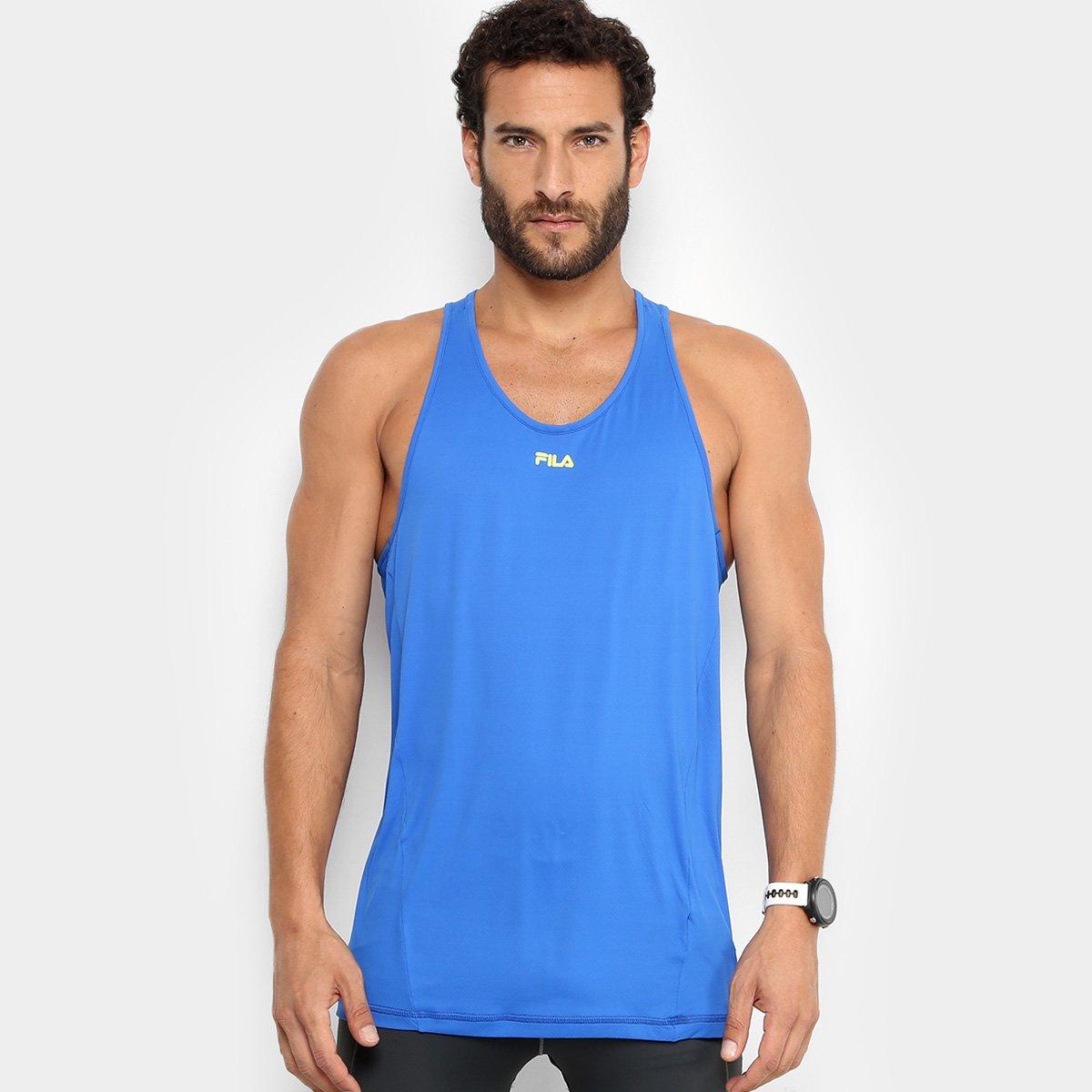 Camiseta Regata Fila Bio - Azul Royal e Azul - Compre Agora  795395e5de4