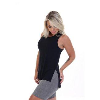 Camiseta Regata Fitness Long Feminina