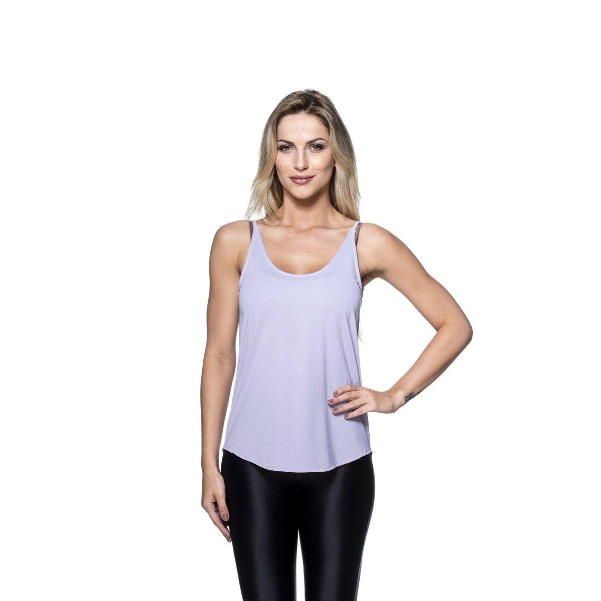 db2af13fae Camiseta Regata Fitness Mulher Elástica Lara Dry Fit
