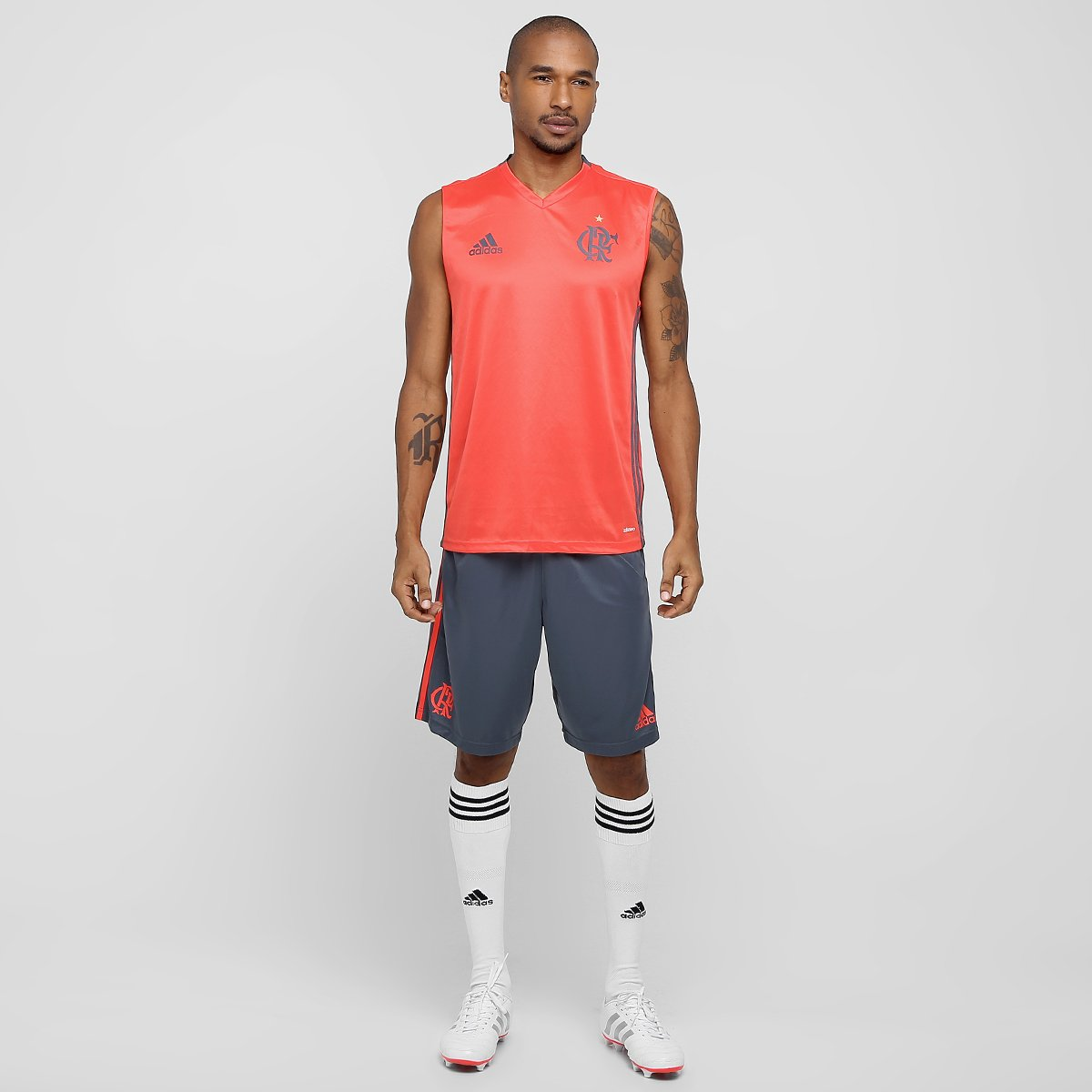 Camiseta Regata Flamengo Adidas Treino Masculina - Compre Agora ... 730df15f5673e