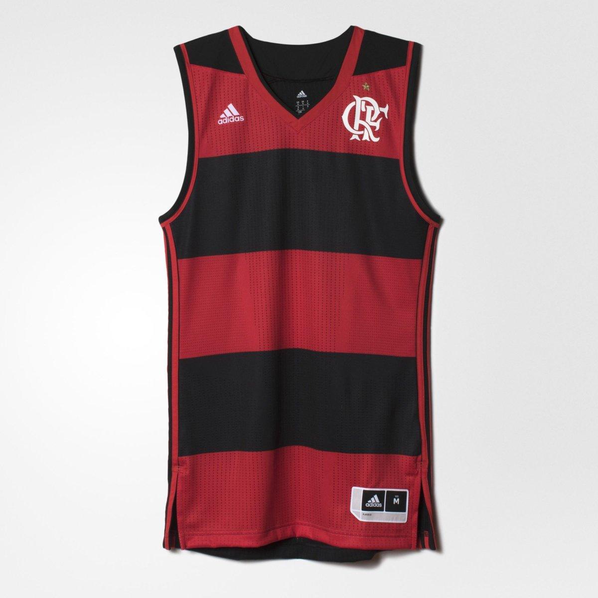 Camiseta Regata Flamengo Basquete Jogo I Adidas 2016 - Compre Agora ... f7cb9ba8dd85f