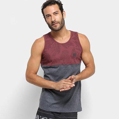 Camiseta Regata Hang Loose Esp Coral -61.24.0036 - Vermelho e Cinza -  Compre Agora  13959ff153f