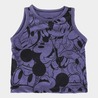 Camiseta Regata Infantil Disney Mickey Full Masculina
