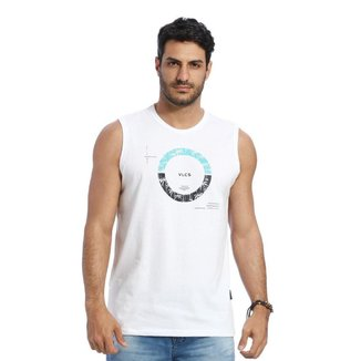 Camiseta Regata Machão VLCS Gola Redonda Branca