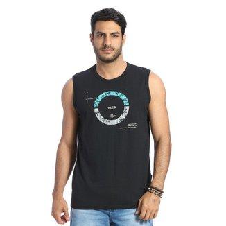 Camiseta Regata Machão VLCS Gola Redonda Preta