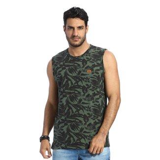 Camiseta Regata Machão VLCS Gola Redonda Verde