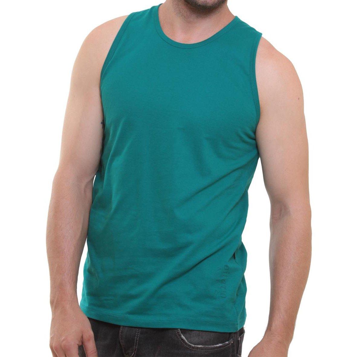 c308eeffb Camiseta Regata Masculina Oitavo Ato Lisa Básica Mescla - Azul Petróleo -  Compre Agora