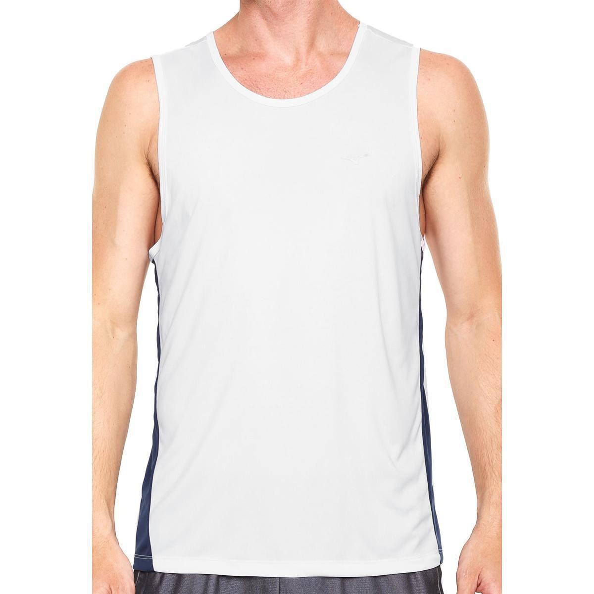 Camiseta Regata Mizuno Wave Run 2 Masculina - Branco e Azul - Compre Agora   8aeb81ea6f8