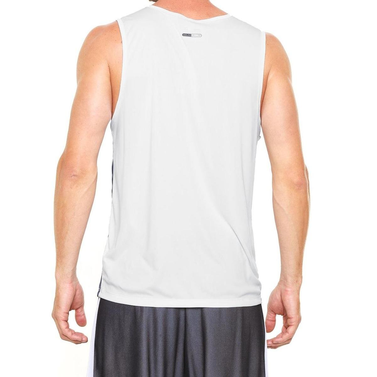 80e2bc347b Camiseta Regata Mizuno Wave Run 2 Masculina - Branco e Azul - Compre ...