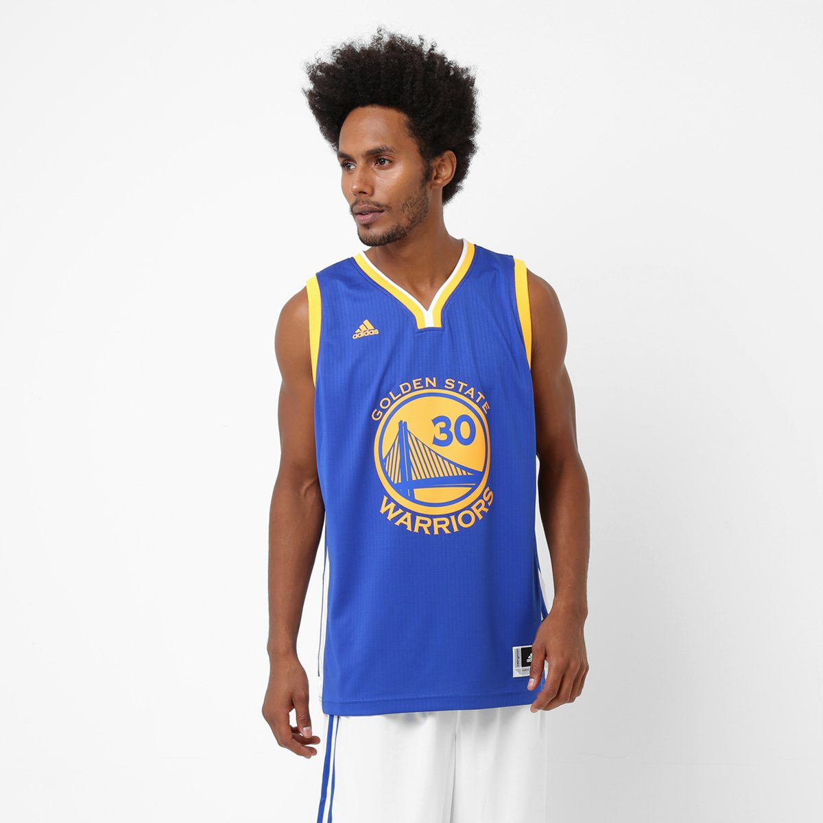 eac4a6395 Camiseta Regata NBA Adidas Golden State Warriors - Curry - Compre Agora
