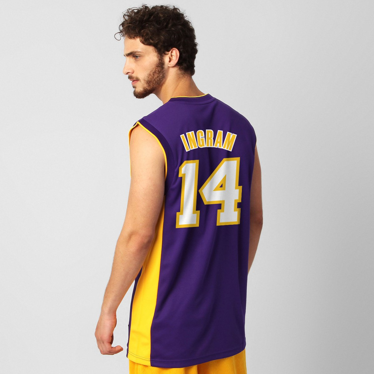 98fa8b0316 Camiseta Regata NBA Adidas Los Angeles Lakers Road - Ingram nº 14 - Compre  Agora