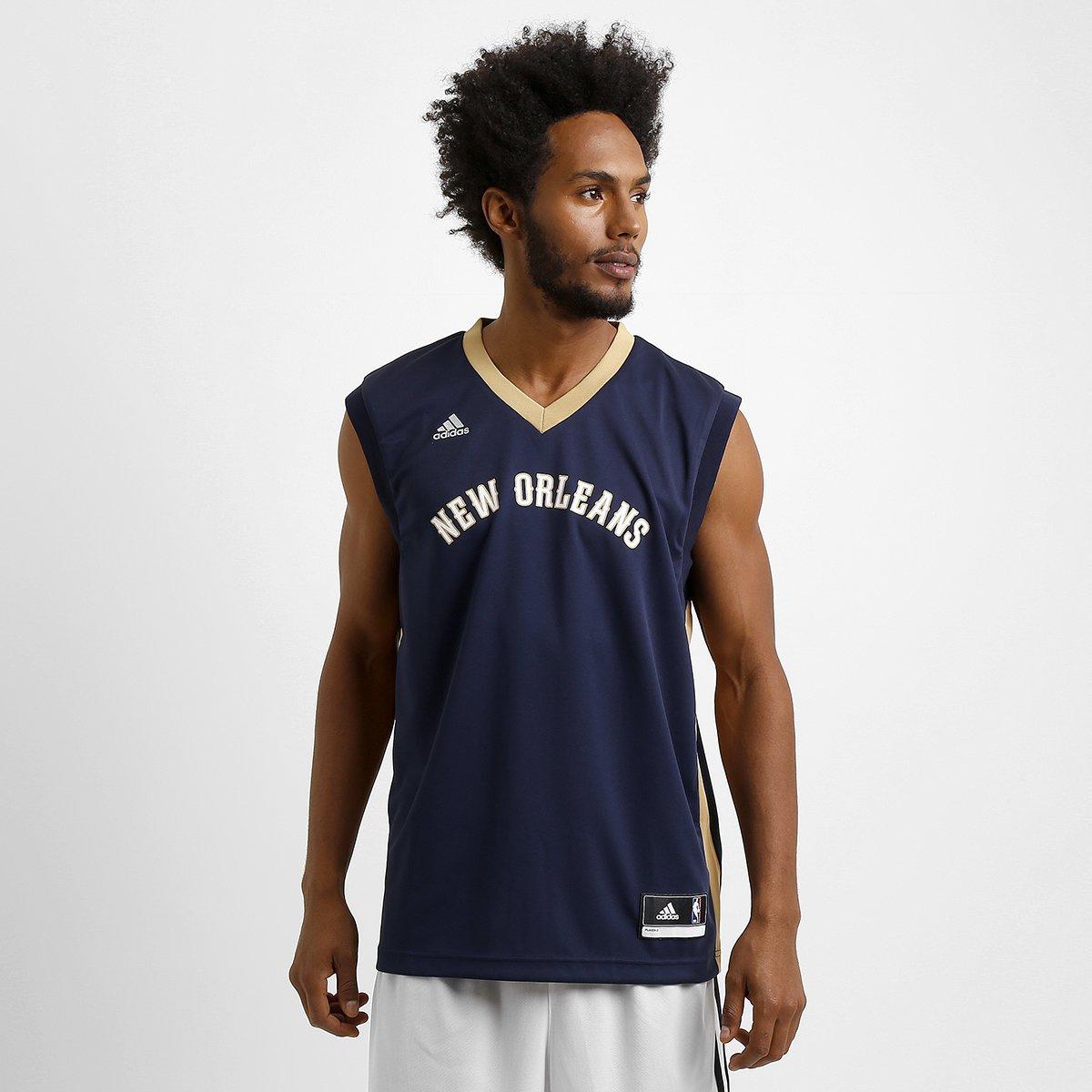 9036d72c1 Camiseta Regata NBA Adidas New Orleans Pelicans Road - Compre Agora ...