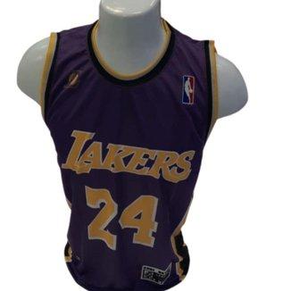Camiseta Regata NBA Réplica Los Angeles Lakers Home - Bryant