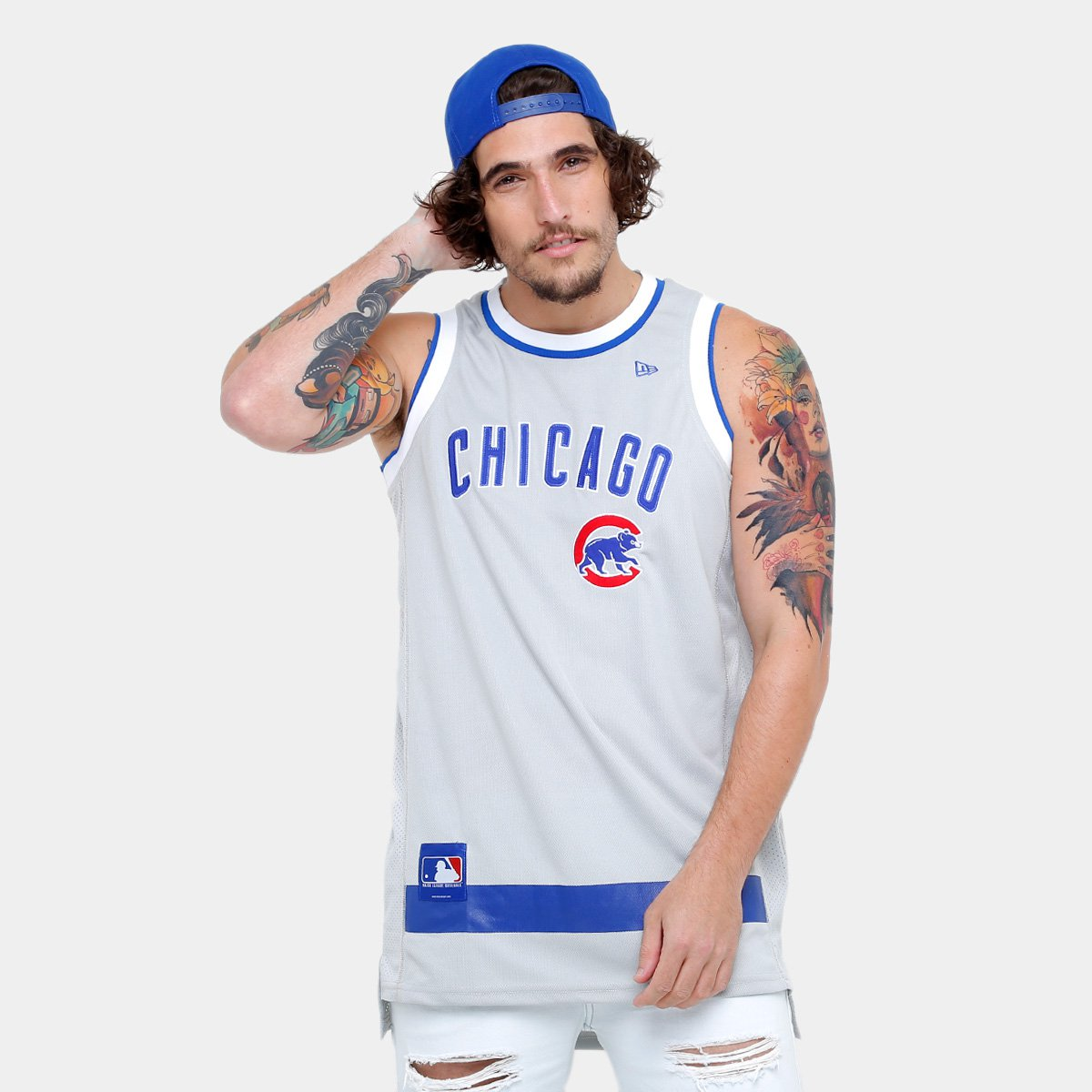 579d3641d Camiseta Regata New Era MLB Basketball Chicago Cubs - Compre Agora ...
