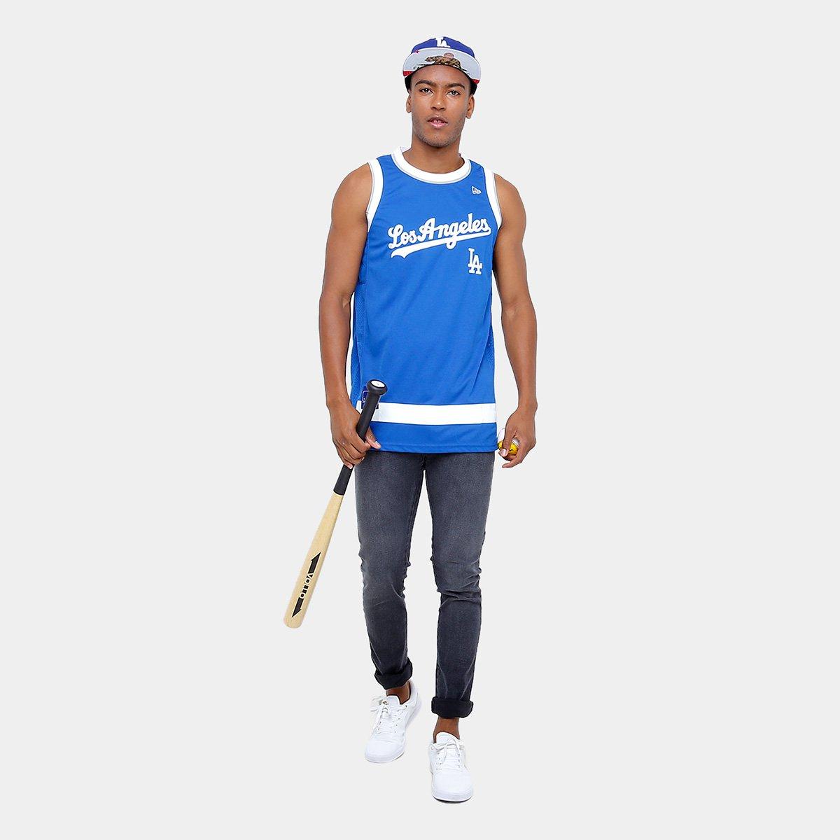 Camiseta Regata New Era MLB Basketball Los Angeles Dodgers - Compre ... 82868d8442d