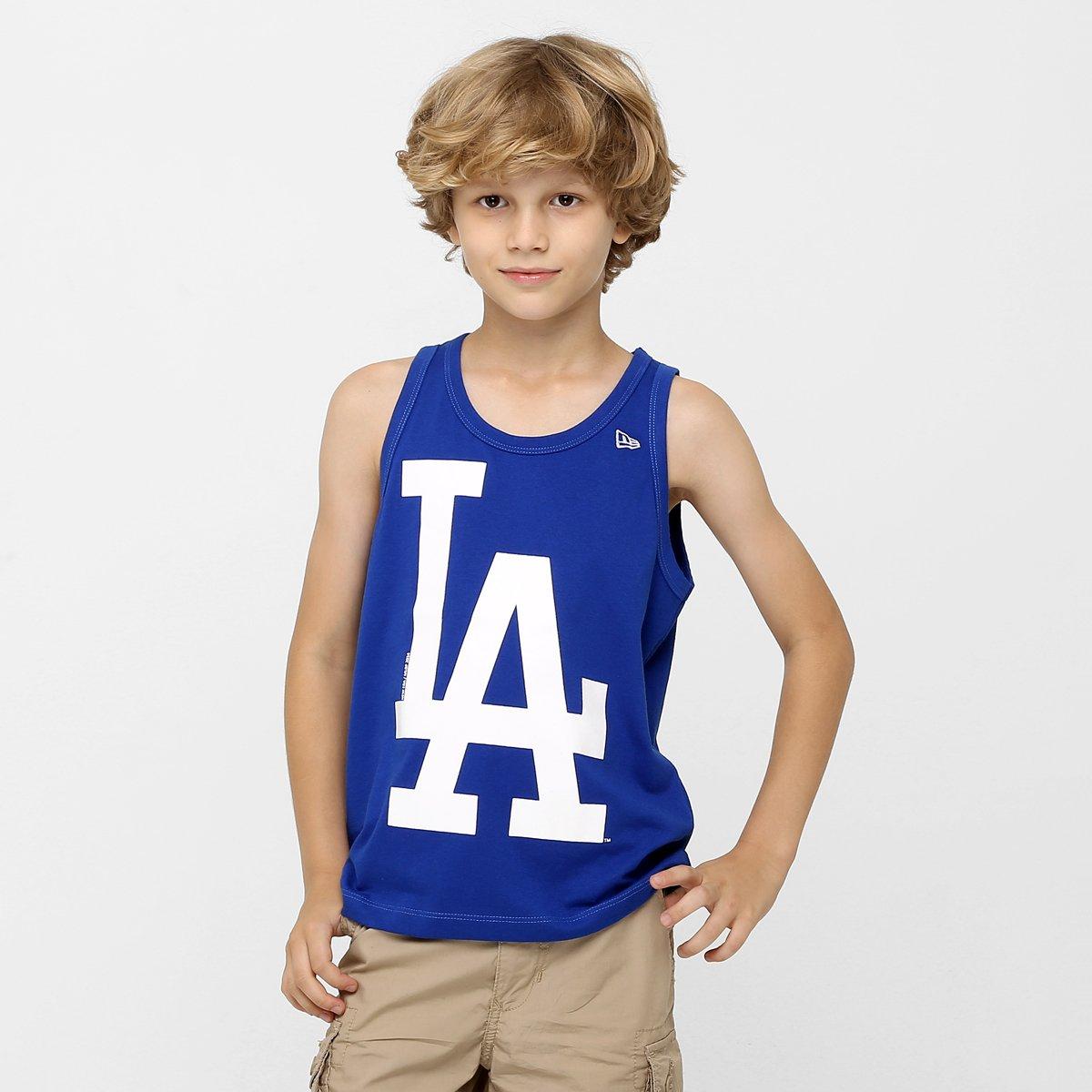 e8740572f2860 Camiseta Regata New Era MLB Los Angeles Dodgers Infantil - Compre Agora