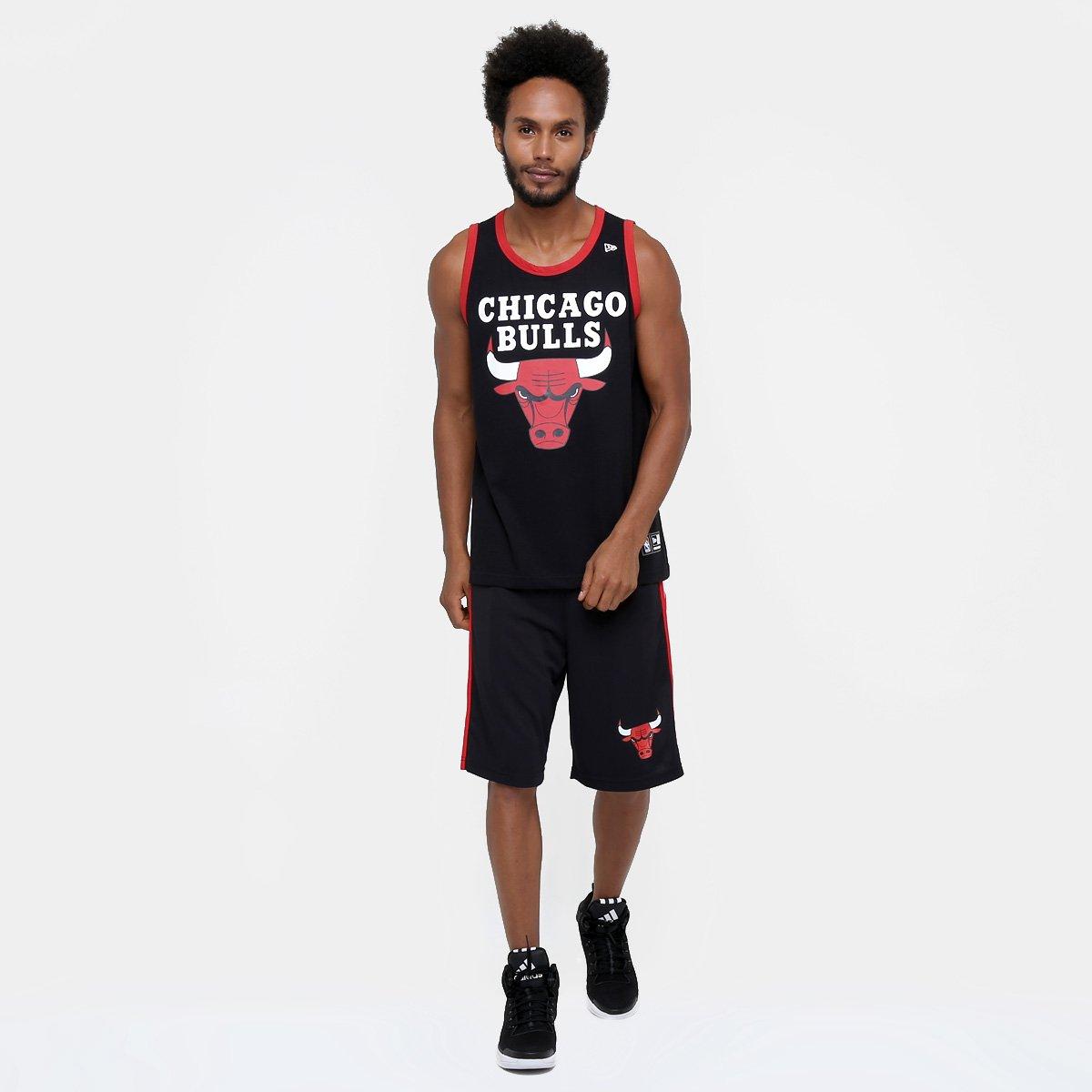 53696687db10a Camiseta Regata New Era NBA Basic Logo Chicago Bulls - Compre Agora ...