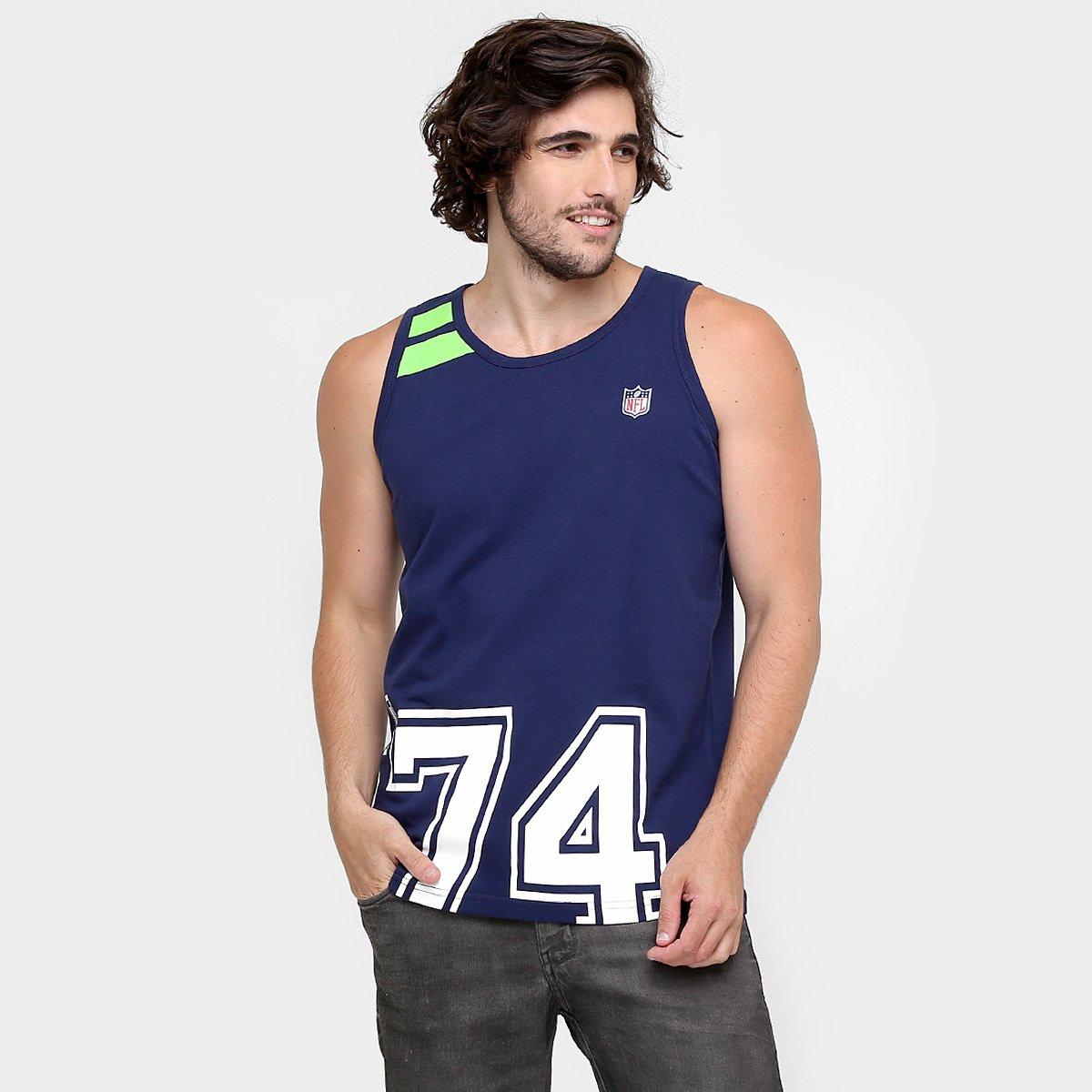 acff7f5de Camiseta Regata New Era NFL Big Dates Seattle Seahawks - Compre Agora