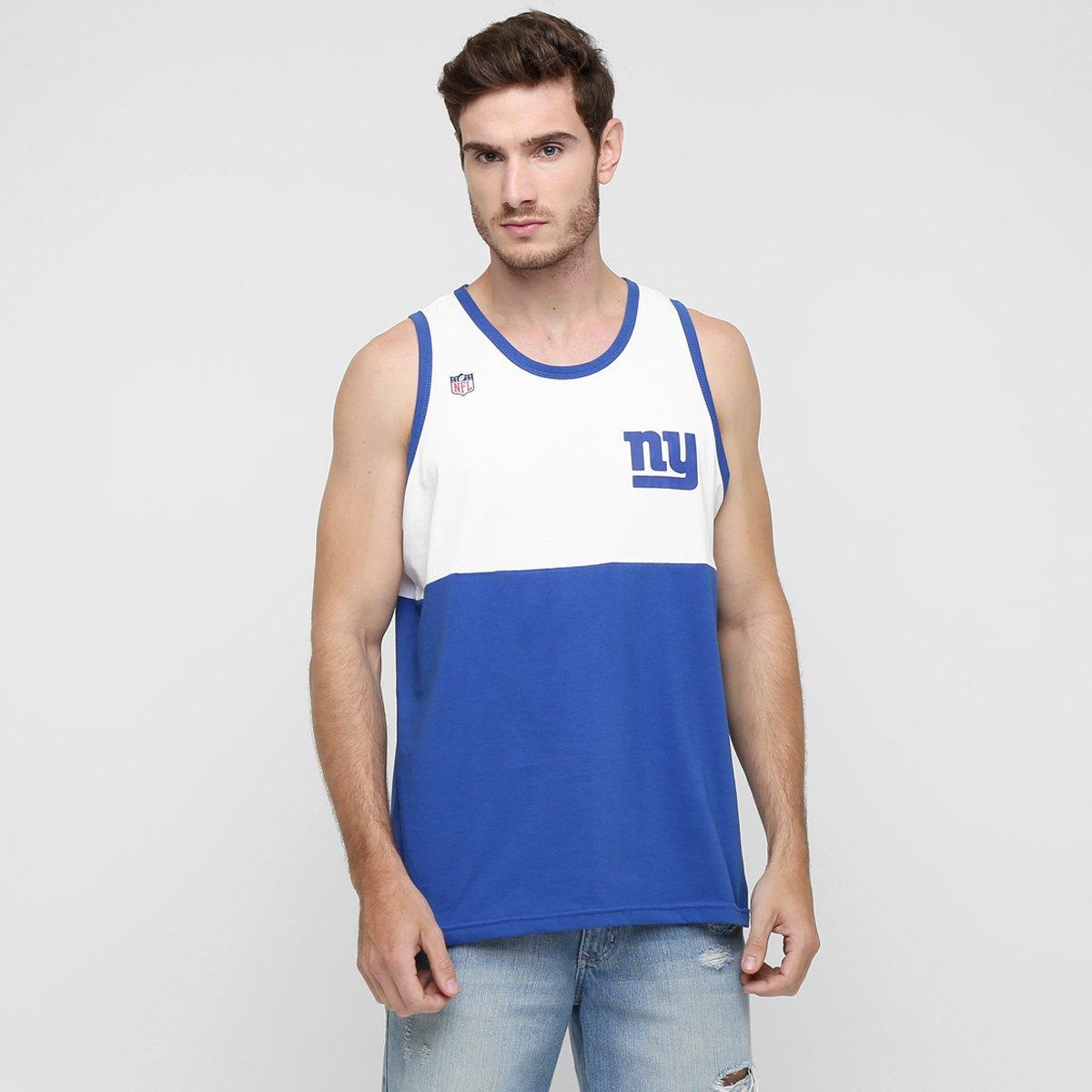 8b47697af9 Camiseta Regata New Era NFL Half New York Giants