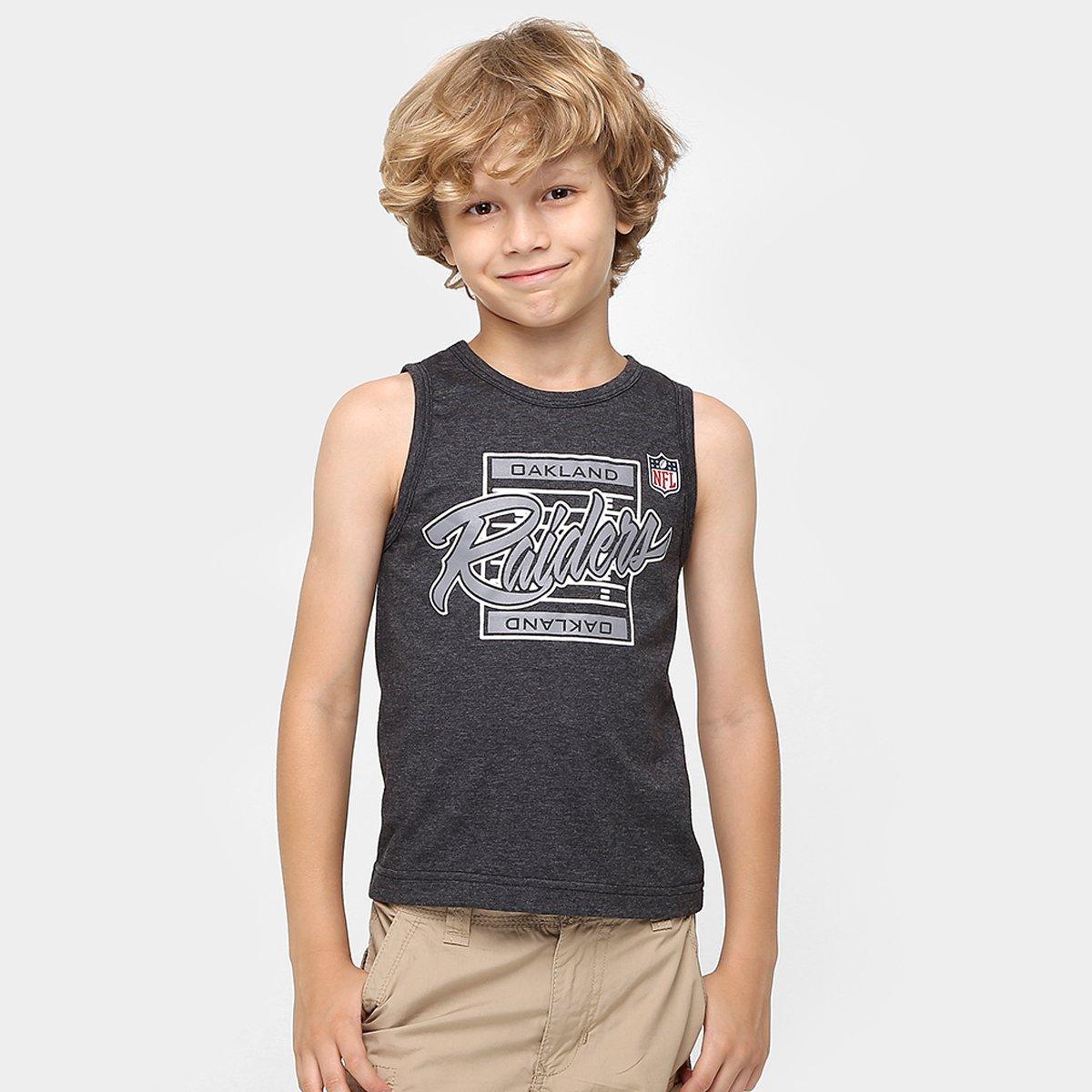 e38a6726d2e44 Camiseta Regata New Era NFL Yards Oakland Raiders Infantil - Compre Agora