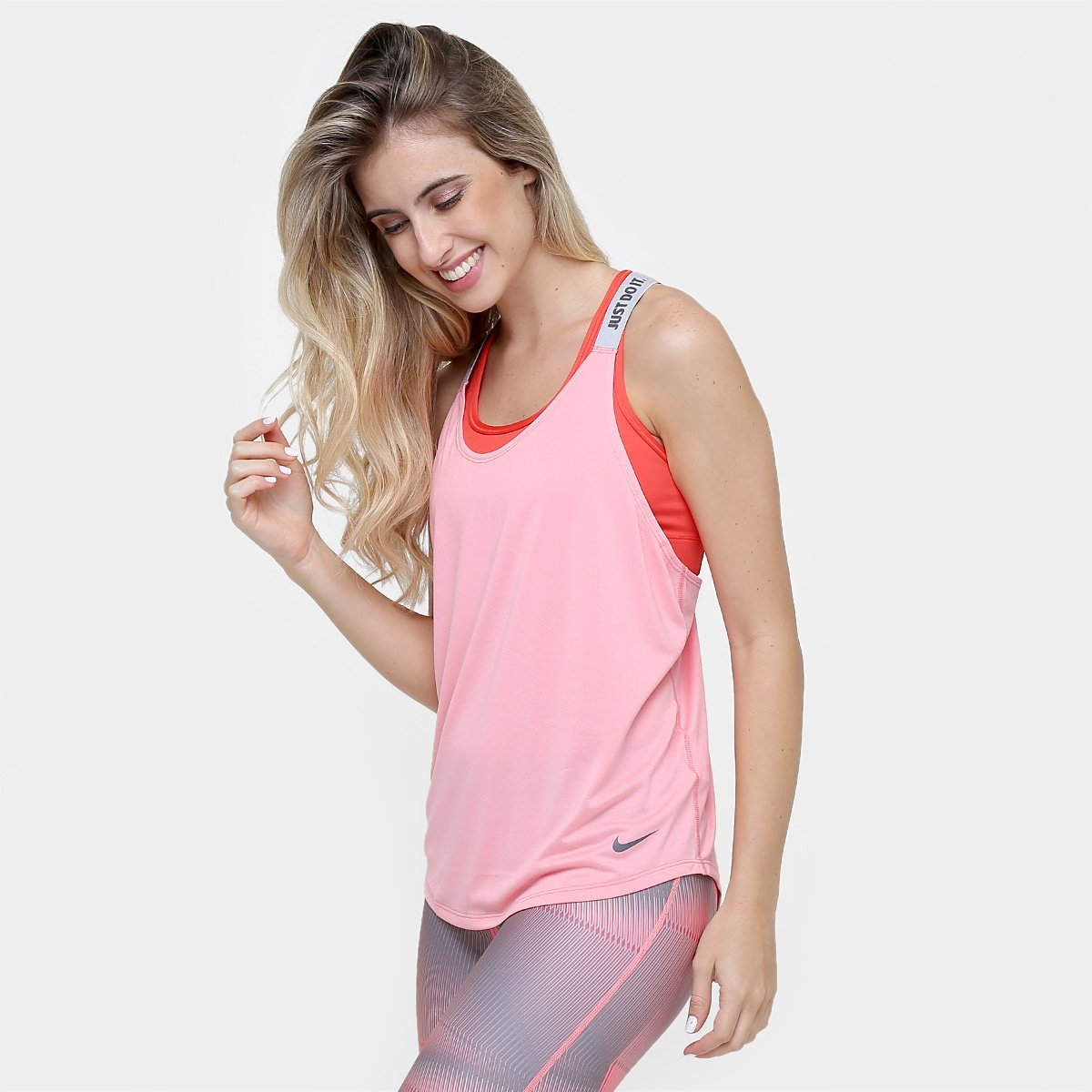 Camiseta Regata Nike Dry Elastika Feminina - Compre Agora  9d3c47539e2
