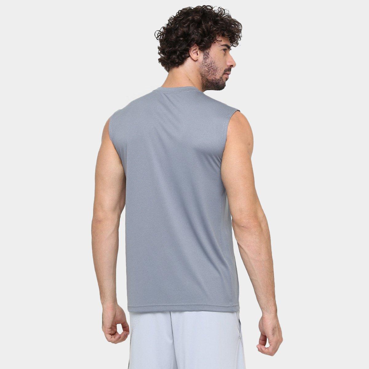 Camiseta Regata Nike Legend 2.0 Tee Masculina - Cinza e Preto ... e9c9a44af31