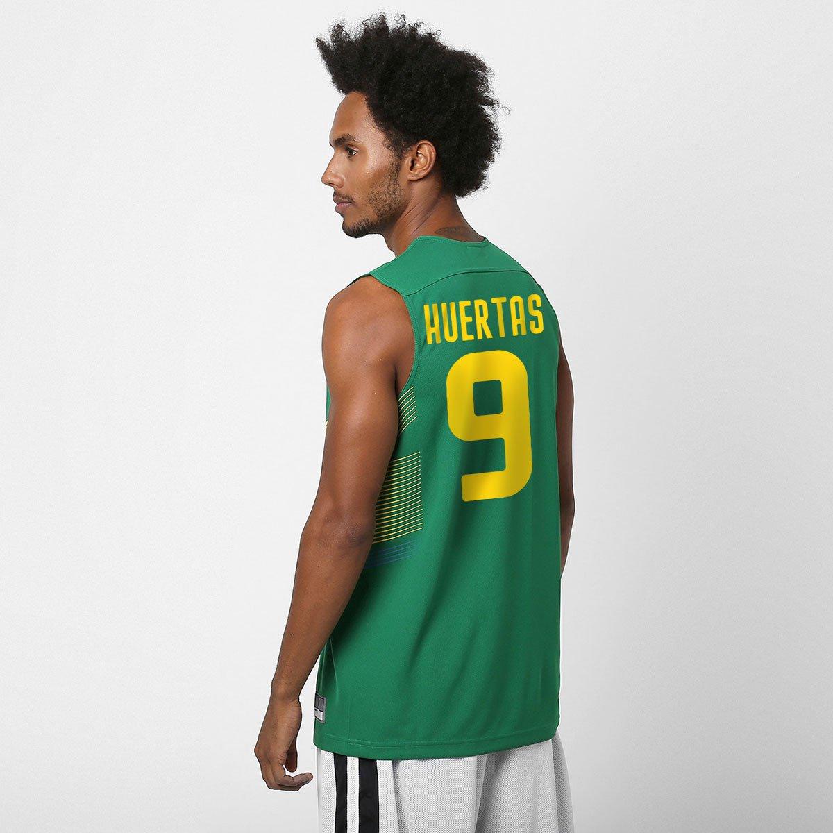 Camiseta Regata Nike Seleção Brasil Basquete - Huertas nº 9 - Compre Agora   1370c38a6425e
