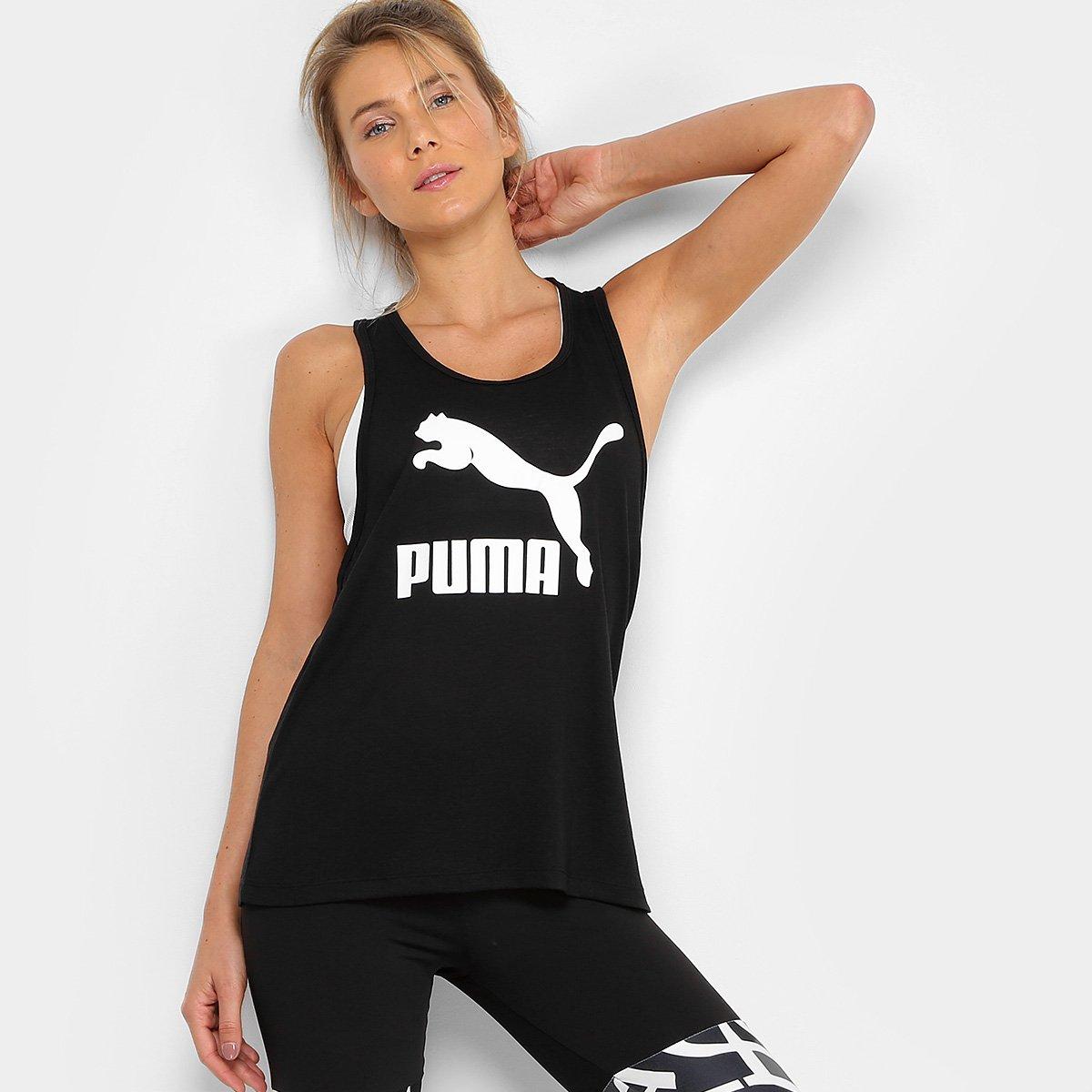 Camiseta Regata Puma Classics Logo Tank Feminina - Compre Agora ... 47a6ce908b817