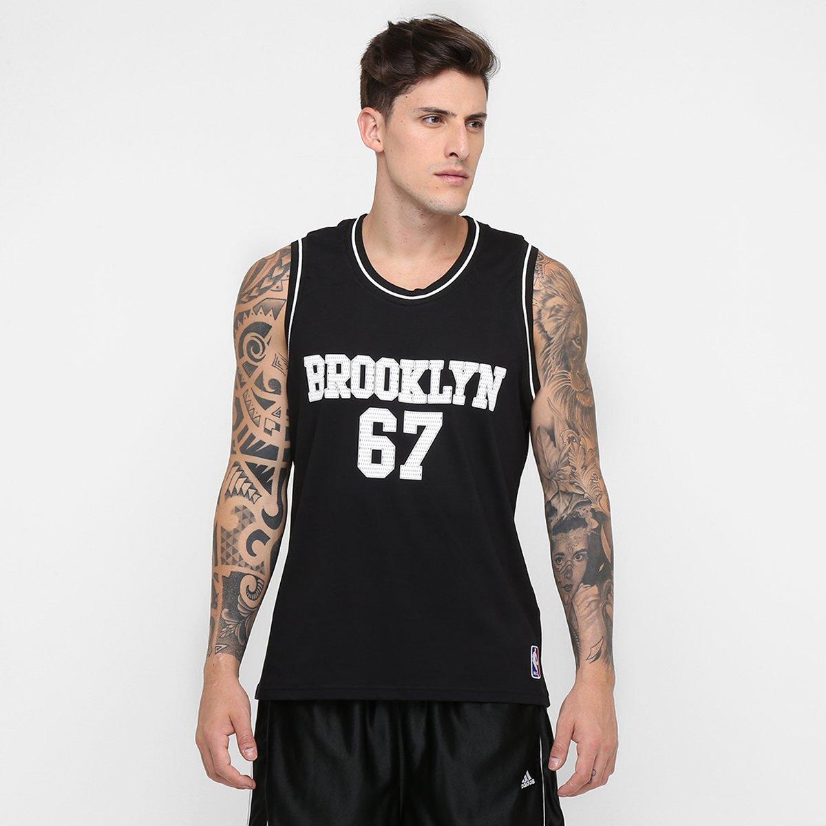 Camiseta Regata Retrô NBA Brooklyn - Compre Agora  4a2e781b9c7