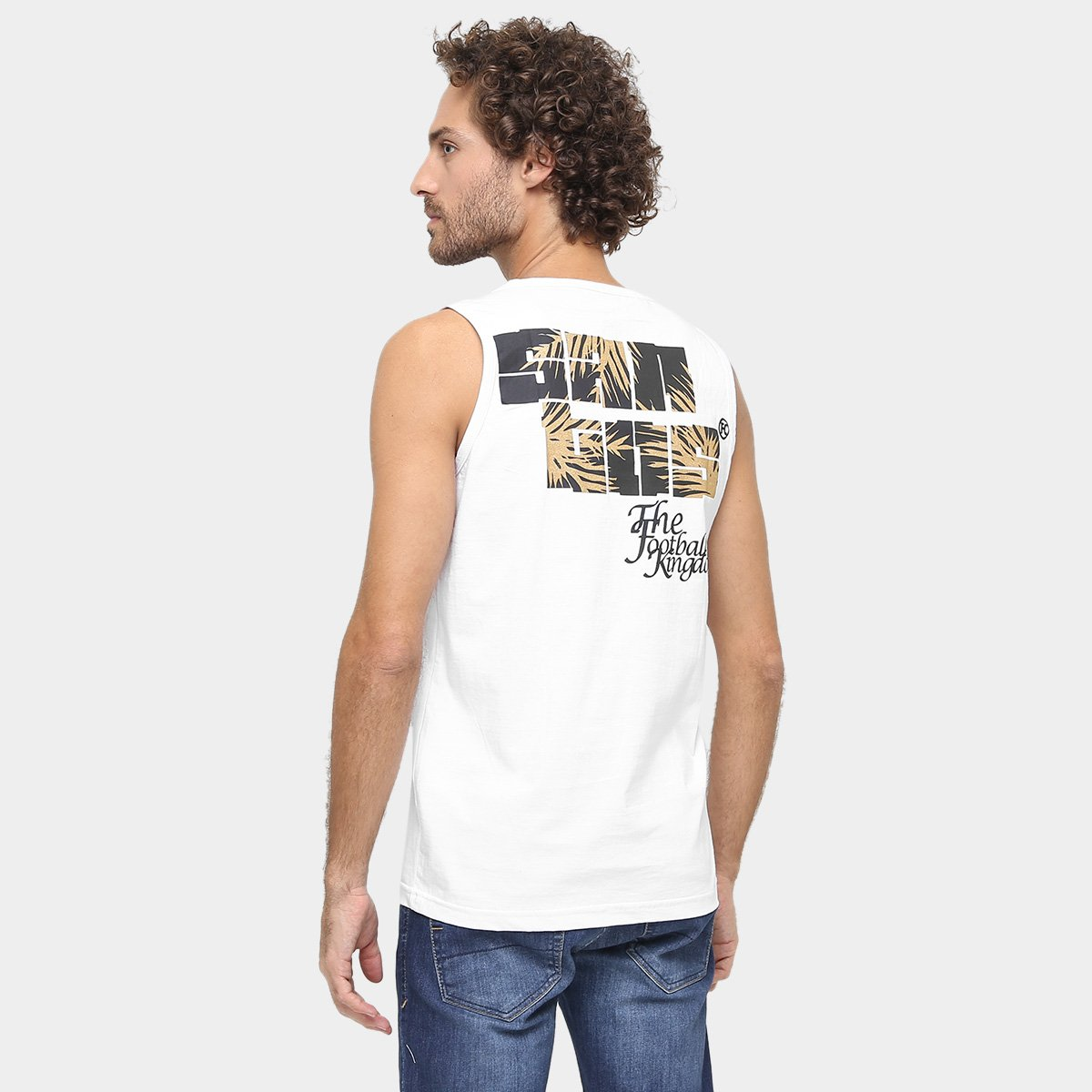 Camiseta Regata Santos Estampada II Masculina - Compre Agora  5dc8e47e885