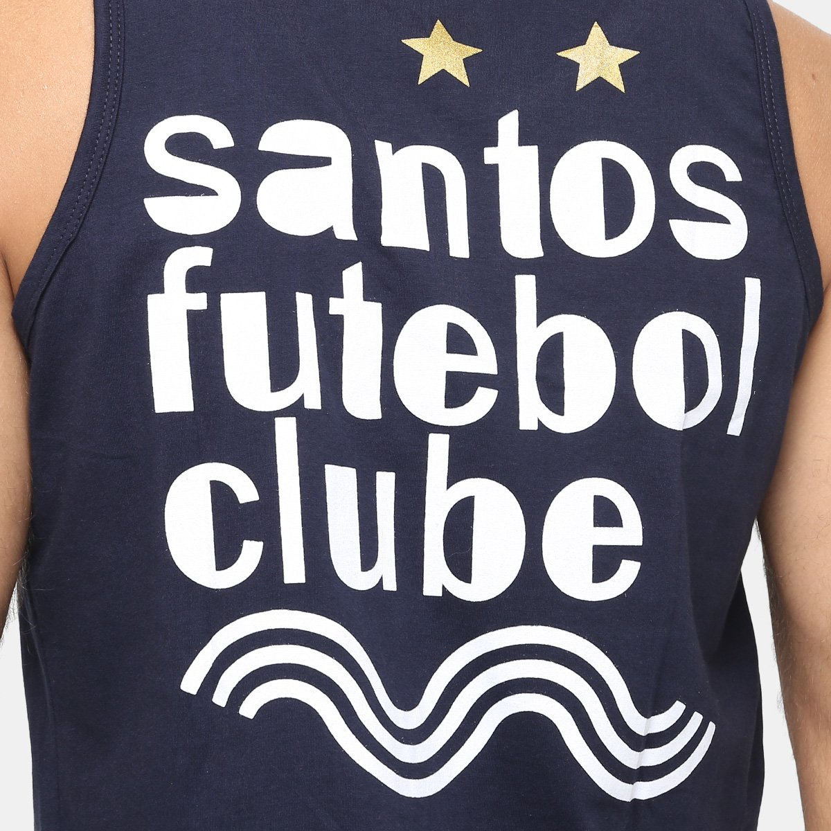 Camiseta Regata Santos Futebol Clube II Masculina - Marinho - Compre ... 8812f8971bbc2