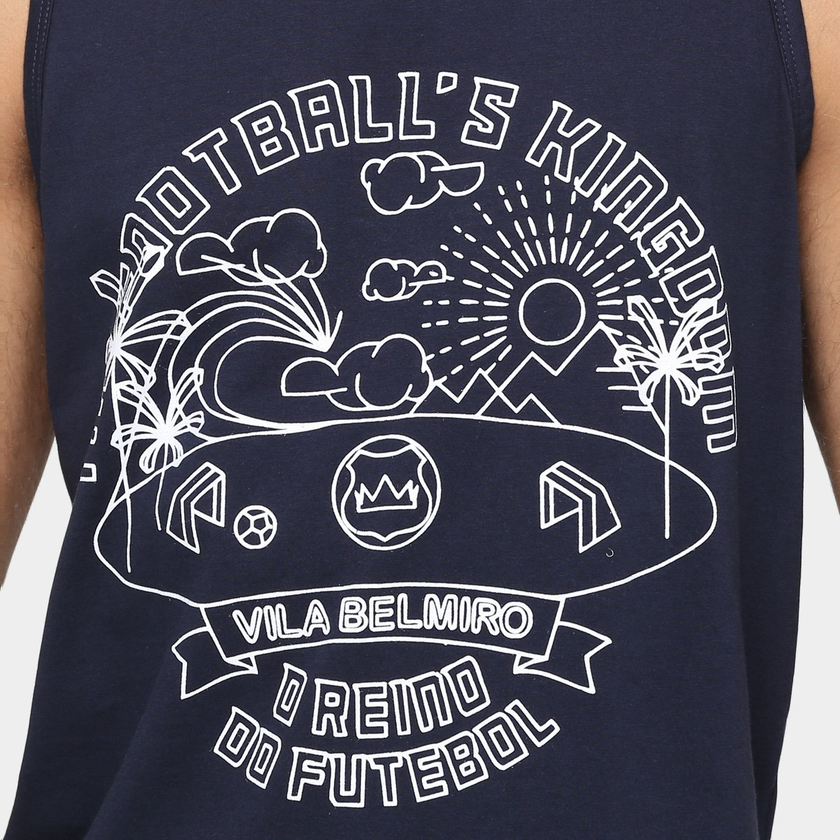 Camiseta Regata Santos Vila Belmiro Estampada II Masculina - Marinho ... 11a7f097f4e32