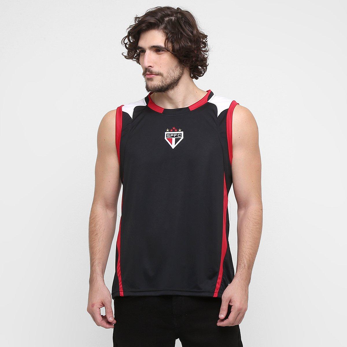 a7582935925bb Camiseta Regata São Paulo c  Recorte - Compre Agora