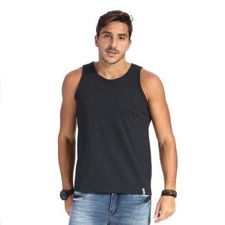 Camiseta Regata VLCS Basica Gola Redonda Preta
