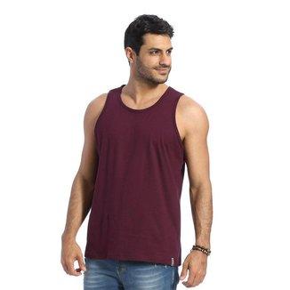 Camiseta Regata VLCS Basica Gola Redonda Roxa