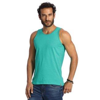 Camiseta Regata VLCS Basica Gola Redonda Verde