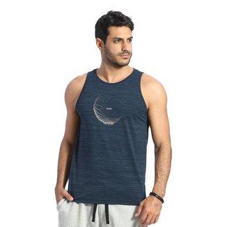 Camiseta Regata VLCS Fitness Dry Fit Proteção UV Azul