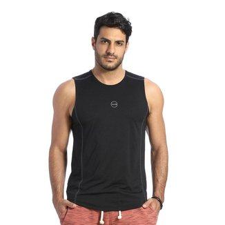 Camiseta Regata VLCS Fitness Dry Fit Proteção UV Preto