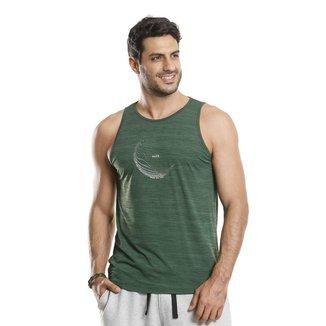 Camiseta Regata VLCS Fitness Dry Fit Proteção UV Verde