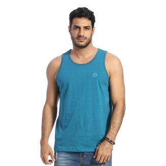 Camiseta Regata VLCS Gola Redonda Azul