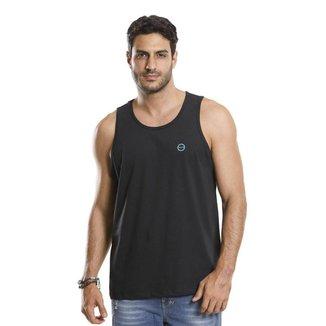 Camiseta Regata VLCS Gola Redonda Preta