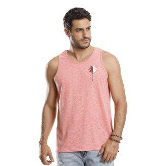 Camiseta Regata VLCS Gola Redonda Rosa